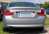 Eisenmann einddemper 2x70mm BMW 3 serie E90 E91 323i 325i 328i_