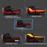 BMW 3 serie F30 OLED black line look achterlichten_