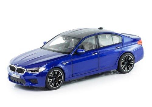 BMW M5 F90 schaalmodel 1:18 Marina Bay Blue origineel BMW