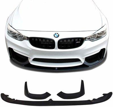 BMW M3 F80, M4 F82 en M4 F83 look frontspoiler mat zwart