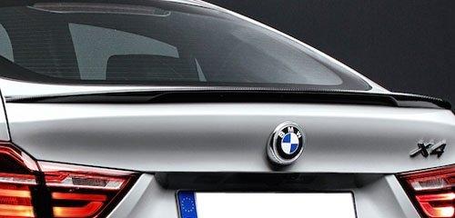 BMW X4 F26 glanzend zwarte koffer spoiler