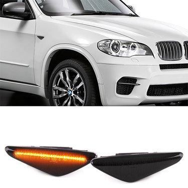BMW X3 F25, X5 E70 en X6 E71  LED zijknipperlichten gerookt / smoke