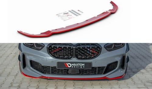 BMW 1 serie F40 M pakket frontspoiler V4 rood Maxton Design