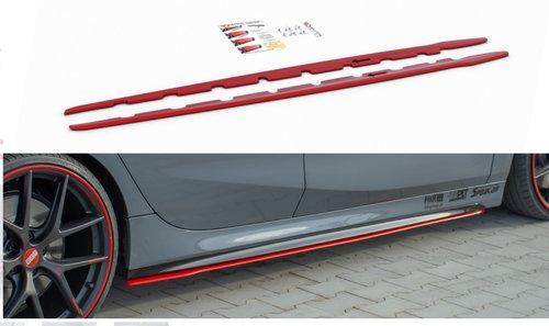 BMW 1 serie F40 sideskirt aanzet V2 rood Maxton Design