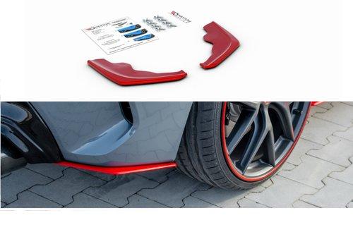 BMW 1 serie F40 aanzet bumperhoeken V2 rood Maxton Design