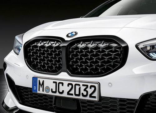 BMW M Performance 1 serie F40 nieren Diamond hoogglans zwart origineel BMW