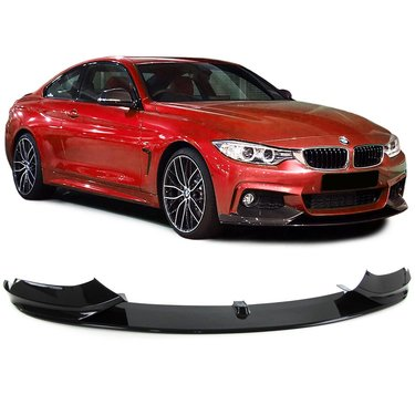 BMW 4 serie F32, F33 en F36 performance look frontspoiler model 2013 - 2019 glanzend zwart