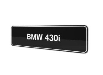 BMW 430i F32 F33 F36 showroom platen origineel BMW