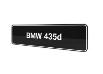 BMW 435d F32 F33 F36 showroom platen origineel BMW