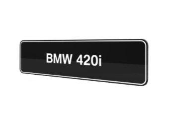 BMW 420i F32 F33 F36 showroom platen origineel BMW