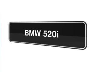 BMW 520i E28 E34 E39 E60 E61 F10 F11 G30 G31 showroomplaten origineel BMW