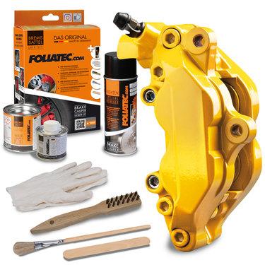 Foliatec Remklauwlakset - Performance Yellow - 3 Komponenten