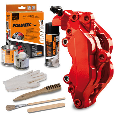 Foliatec Remklauwlakset - Performance Red - 3 Komponenten