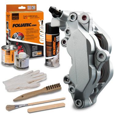 Foliatec Remklauwlakset - Stratos Silver - 3 Komponenten