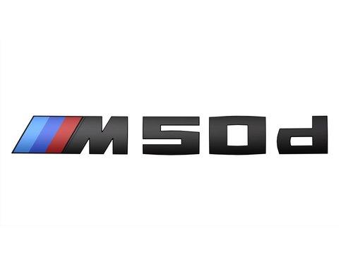 BMW X5 F15 G05 M50d embleem zwart origineel BMW