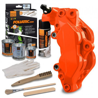 Foliatec Remklauwlakset - Neon Orange - 3 Komponenten