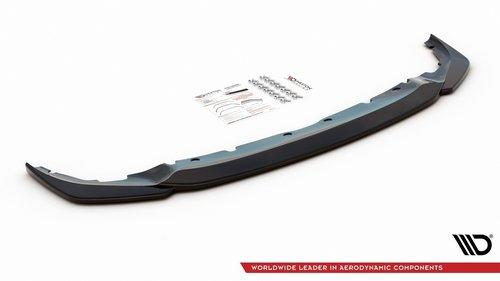 BMW 1 serie F40 M pakket frontspoiler V3 glanzend zwart Maxton Design