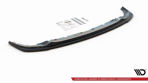 BMW 1 serie F40 M pakket frontspoiler V1 glanzend zwart Maxton Design