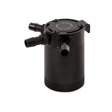 Mishimoto compact baffled oil catch can 3 port zwart