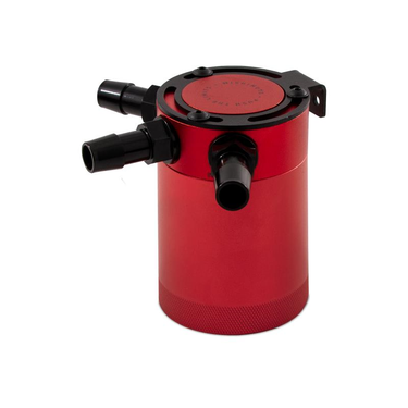 Mishimoto compact baffled oil catch can 3 port Rood