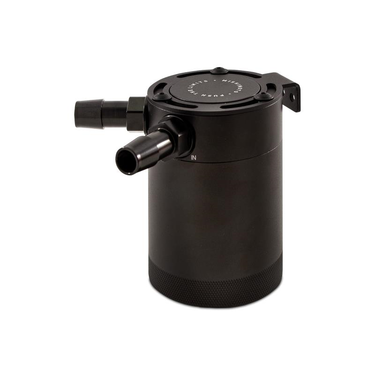 Mishimoto compact baffled oil catch can 2 port zwart