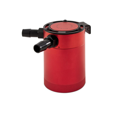 Mishimoto compact baffled oil catch can 2 port rood