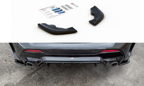 BMW 1 serie F40 aanzet bumperhoeken V3 glanzend zwart Maxton Design