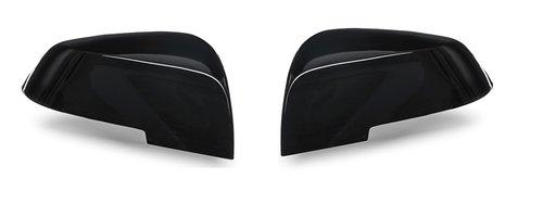 BMW F20 F21 F22 F23 F87 F30 F31 F34 F32 F33 F36 spiegelkappen glanzend zwart 'sportline'