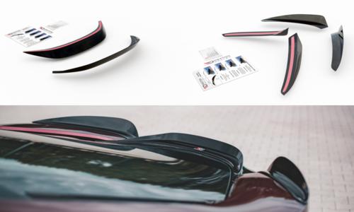 Maxton Design spoiler caps set glanzend zwart BMW I8