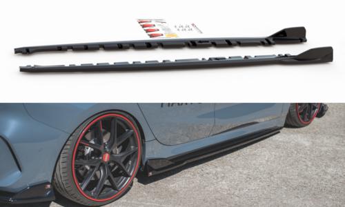 BMW 1 serie F40 sideskirt aanzet glanzend zwart V3 Maxton Design