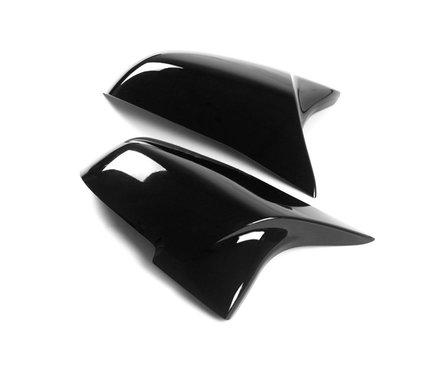 BMW 5 serie F10 LCI 6 serie F06 F12 7 serie F01 EVO look glanzend zwart spiegelkappen