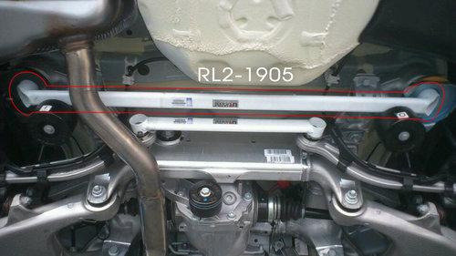 Ultra Racing BMW 6 Serie E63 E64 640i 2 punts lower rear bar