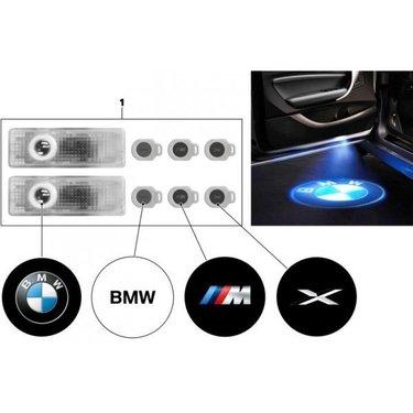 Instap verlichting met logo's set origineel BMW
