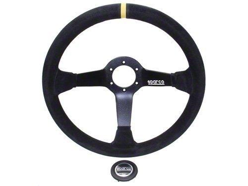 Sparco R325 stuur alcantara met geel accent