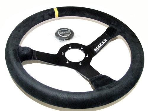 Sparco R368 stuur alcantara met geel accent