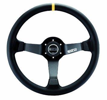 Sparco Monza stuur leder met geel accent