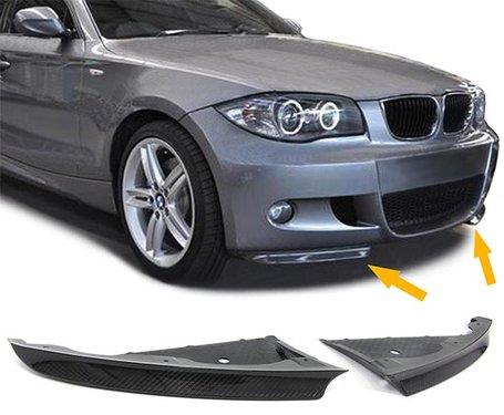 Carbon splitters BMW 1 serie E87 en E87 LCI met M pakket