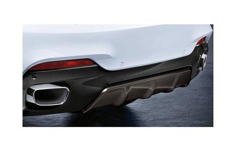 BMW X6 F16 M Performance carbon diffusor inzet origineel BMW