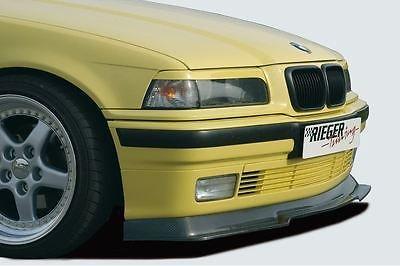 Front spoiler BMW 3 serie E36 met standaard bumper in carbon look Rieger