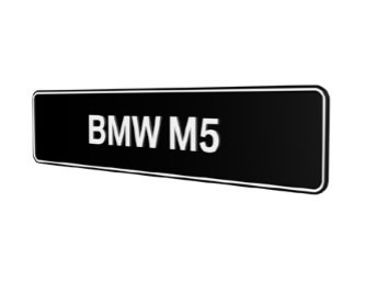 BMW M5 E28 E34 E39 E60 E61 F10 showroom platen origineel BMW