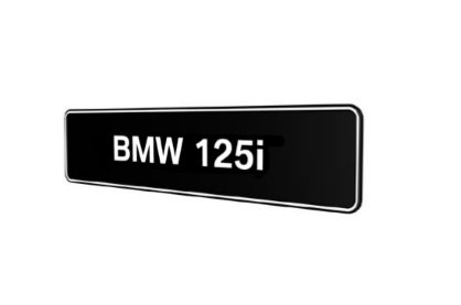 BMW 125i showroom platen E81 E82 E87 E88 F20 F21 origineel BMW