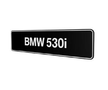 BMW 530i E34 E39 E60 E61 F10 F11 G30 G31 showroomplaten origineel BMW