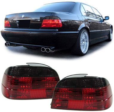 BMW 7 serie E38 achterlichten rood/smoke kristal model 1994 - 2001
