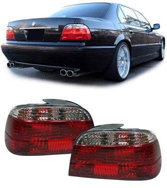 BMW 7 serie E38 achterlichten rood/wit kristal model 1994 - 2001