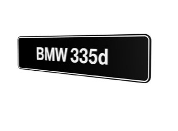BMW 335d E90 E91 E92 E93 F30 F31 F34 GT showroom platen origineel BMW