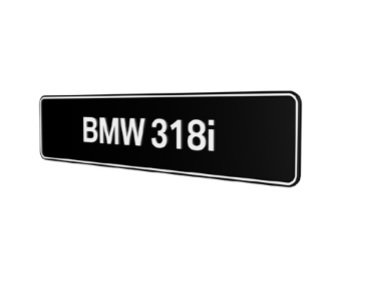BMW 318i E30 E36 E46 E90 E91 F30 F31 showroom platen origineel BMW