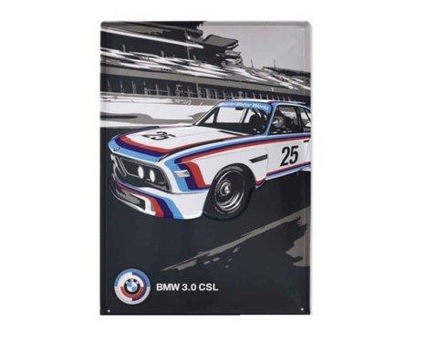 BMW Motorsport Heritage 3.0 CSL muurschild van metaal origineel BMW