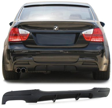 BMW 3 serie E90 en E91 performance look diffusor uitlaat links