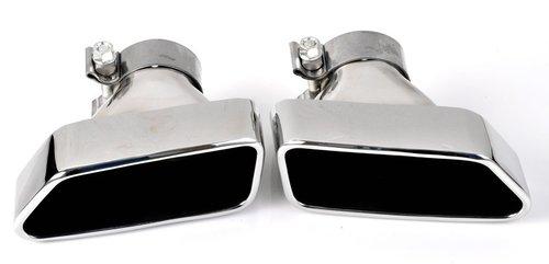 BMW 5 serie F10 en F11, 6 serie F12 en F13 550i 650i look uitlaat sierstukken