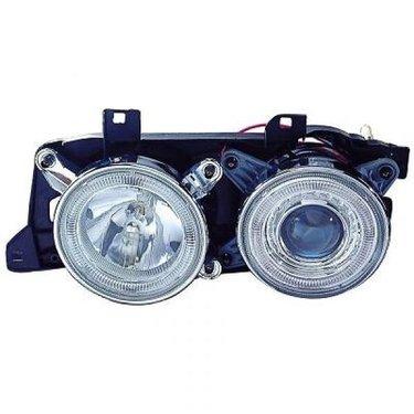 BMW 5 serie E34 en 7 serie E32 angel eyes koplampen chroom design